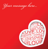 Love card with hearts vector illustration
