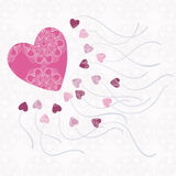 Love card with hearts Royalty Free Stock Image