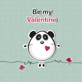 Love card with panda bear Stock Photos