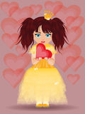 Love card, princess and heart Stock Photo