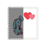 Love card with Stuffed rabbit Royalty Free Stock Photos
