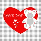 Love card Teddy Stock Image