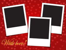 Love card template with blank photo frames Royalty Free Stock Image