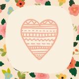 Love card template. Love card teemplate. Vector EPS 10 hand drawn illustration stock illustration