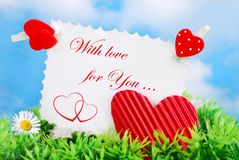 Love card with text Royalty Free Stock Photos