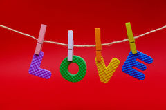 Love in card. Royalty Free Stock Image