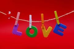 Love in card. Stock Photo
