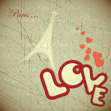 Love - card for Valentine's Day Stock Images