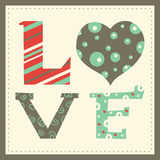 Love card. Valentine's day Stock Photo