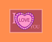 Love card. Valentines day card Stock Photography