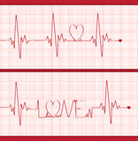 Love cardiogram Royalty Free Stock Images
