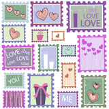 Love cards. Vector set of love cards Stock Image
