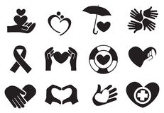 Love and Care Icons. Designs for love and community care icons. Vector illustration Stock Photos
