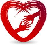 Love care logo Royalty Free Stock Photos
