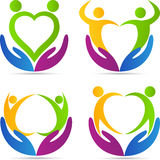 Love care people. A vector drawing represents love care people design Royalty Free Stock Image