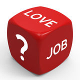 Choose. Love or Career - How to Make the Right Choice Stock Photography