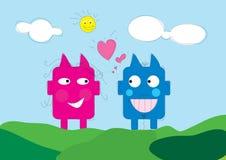 Love cartoon couple Stock Image