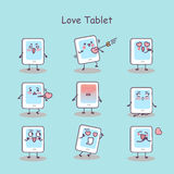 Love cartoon digital tablet pc Royalty Free Stock Images