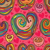 Love cartoon pattern drawing seamless pattern Stock Images