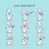 Love cartoon smart watch Royalty Free Stock Image