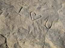 Love Carved in Stone Royalty Free Stock Photos