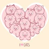 Love cats Royalty Free Stock Image