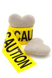 Love with caution Royalty Free Stock Photo