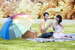 Love celebration on autumn day royalty free stock images