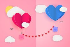 Love chained couple vector illustration