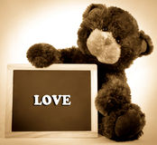 Love Chalkboard Bear Royalty Free Stock Photos