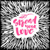 Love and charity concept hand lettering motivation poster. Stock Photos