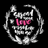 Love and charity concept hand lettering motivation poster. Stock Image
