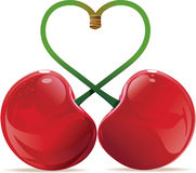 Love cherry Stock Images