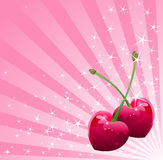 Love Cherry background Royalty Free Stock Image