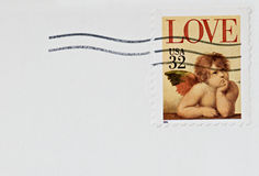 Love Cherub Stamp  Stock Photos