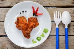 Love chicken Stock Photo