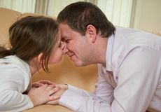 Love - child with father Royalty Free Stock Photography