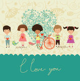 Love the children background Royalty Free Stock Image