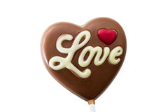 Love, chocolate Royalty Free Stock Images