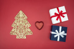 Love Christmas enjoy sale and shopping boxing day Royalty Free Stock Photography