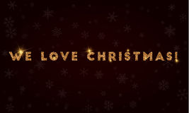 We love Christmas!. Royalty Free Stock Photos