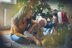 We love Christmas holidays royalty free stock photography