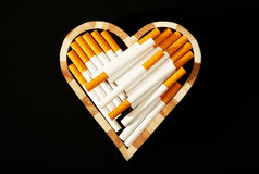 Love and cigarettes Royalty Free Stock Photos