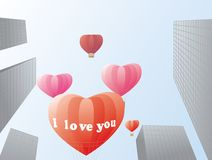 Love in the City. This image can be used as decoration to Valentin's day Royalty Free Stock Images