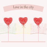 Love in the city. Vector Stock Images