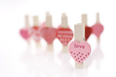Love Clip. Love heart shape paper Clip royalty free stock photo