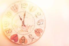 Love clock vintage Stock Photo
