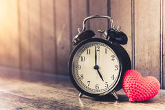 Love clock vintage tone timed 5 o`clock. Stock Images