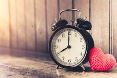 Love clock vintage tone timed 8 o`clock. Stock Photos