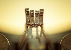 LOVE Close up of old typewriter keyboard. Royalty Free Stock Photo